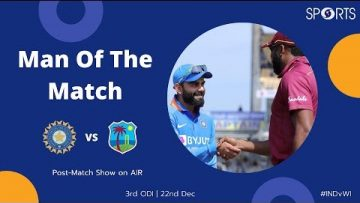 Man of the Match | India Vs West Indies 3rd ODI | All India Radio